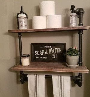 Farmhouse Bathroom Shelves