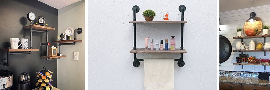 farmhouse industrial shelves