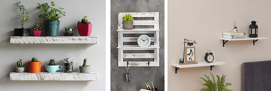 farmhouse white shelves