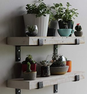 White Farmhouse Shelves