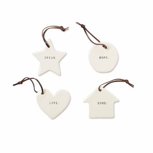 4+Piece+Rae+Dunn+Classics+Hanging+Figurine+Ornament+Set