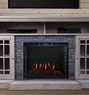 ALLENHOME Bennett Infrared Electric Fireplace TV Stand Farmhouse Ivory ASMM 017 2866 S404 T 0 300x319