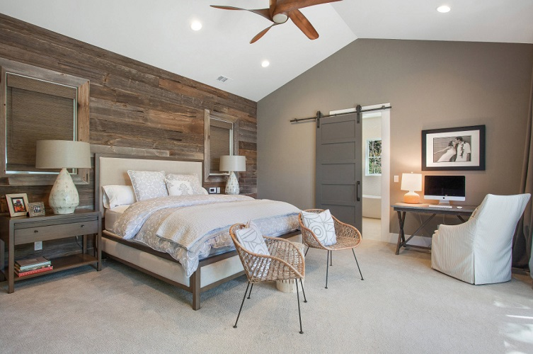 Alamo, CA Farmhouse Master Bedroom by LMK Interiors