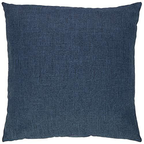 Amazon Brand Stone Beam Casual Global Throw Pillow 20 X 20 Inch Dark Denim 0 0