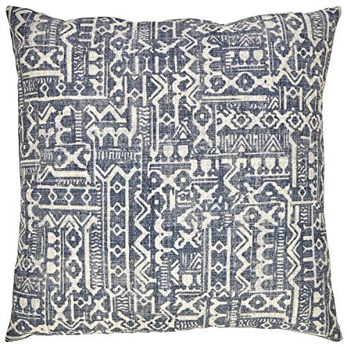 Amazon Brand Stone Beam Casual Global Throw Pillow 20 X 20 Inch Dark Denim 0