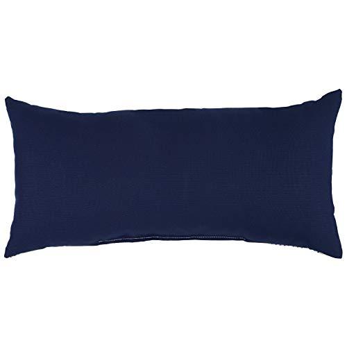 Amazon Brand Stone Beam Casual Outdoor Stripe Throw Pillow 24 X 12 Inch Blue 0 0
