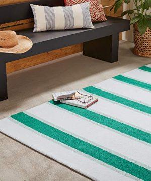 Amazon Brand Stone Beam Casual Outdoor Stripe Throw Pillow 24 X 12 Inch Blue 0 3 300x360