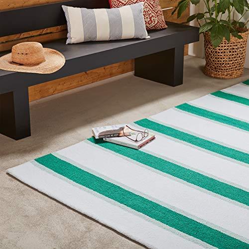 Amazon Brand Stone Beam Casual Outdoor Stripe Throw Pillow 24 X 12 Inch Blue 0 3