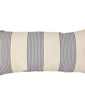 Amazon Brand Stone Beam Casual Outdoor Stripe Throw Pillow 24 X 12 Inch Blue 0 300x360