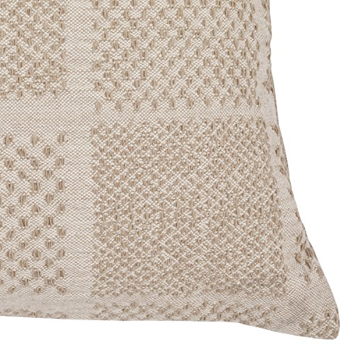 Amazon Brand Stone Beam Casual Woven Square Decorative Throw Pillow 17 X 17 Ivory 0 0