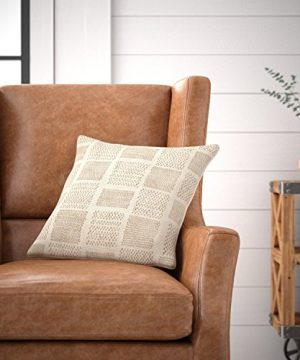 Amazon Brand Stone Beam Casual Woven Square Decorative Throw Pillow 17 X 17 Ivory 0 2 300x360