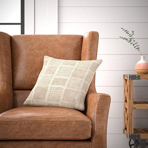 Amazon Brand Stone Beam Casual Woven Square Decorative Throw Pillow 17 X 17 Ivory 0 2