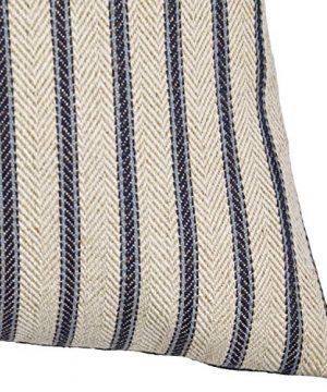 Amazon Brand Stone Beam Classic Ticking Stripe Throw Pillow 17 X 17 Inch Indigo 0 1 300x360