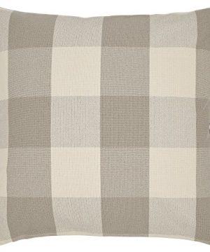 Amazon Brand Stone Beam Farmhouse Buffalo Check Plaid Decorative Throw Pillow 20 X 20 Cover And Insert Light Grey 0 300x360