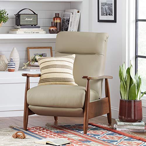 Amazon Brand Stone Beam Modern Striped Throw Pillow 18 X 18 Inch Olive Multi 0 3