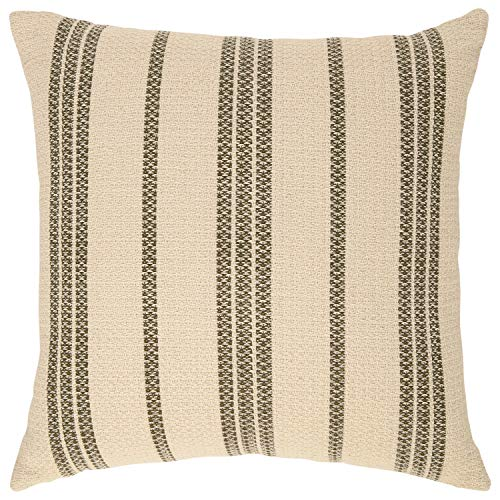 Amazon Brand Stone Beam Modern Striped Throw Pillow 18 X 18 Inch Olive Multi 0