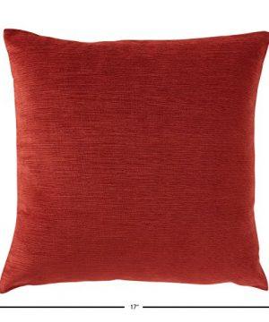 Amazon Brand Stone Beam Striated Velvet Linen Look Decorative Throw Pillow 17 X 17 Henna 0 1 300x360