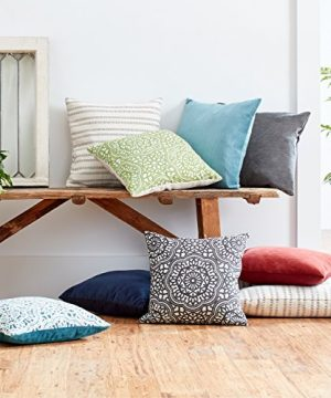 Amazon Brand Stone Beam Striated Velvet Linen Look Decorative Throw Pillow 17 X 17 Henna 0 3 300x360