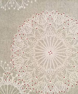 Amelie Michel Wipe Clean French Tablecloth In Cleome Natural Authentic French Acrylic Coated 100 Cotton Fabric Easy Care Spill Proof 60 X 144 Rectangle 0 4 300x360