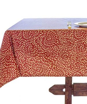 Amelie Michel Wipe Clean French Tablecloth In Courmayeur Red Authentic French Acrylic Coated 100 Cotton Fabric Easy Care Spill Proof 60 X 144 Rectangle 0 300x360