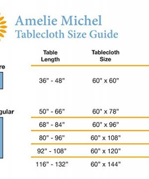 Amelie Michel Wipe Clean French Tablecloth In Moustiers White Authentic French Acrylic Coated 100 Cotton Fabric Easy Care Spill Proof 60 X 144 Rectangle 0 5 300x360
