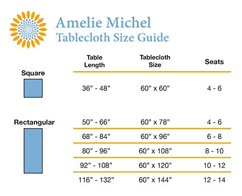 Amelie Michel Wipe Clean French Tablecloth In Moustiers White Authentic French Acrylic Coated 100 Cotton Fabric Easy Care Spill Proof 60 X 144 Rectangle 0 5