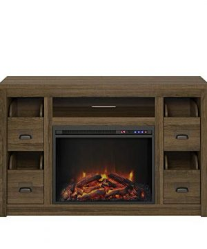 Ameriwood Home Adams TV Stand With Fireplace For TVs Up To 55 Brown Oak 0 1 300x360