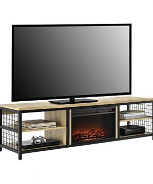 Ameriwood Home Brookspoint TV Stand With Fireplace For TVs Up To 75 Golden Oak 0 300x360