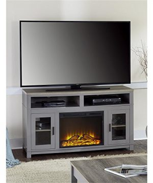 Ameriwood Home Carver Electric Fireplace TV Stand For TVs Up To 60 Wide Gray 0 300x360