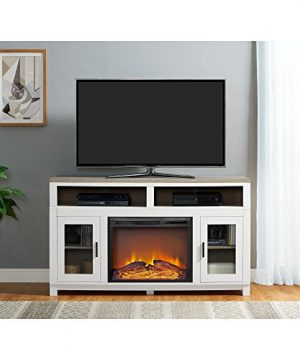 Ameriwood Home Carver Electric Fireplace TV Stand For TVs Up To 60 Wide White 0 300x360