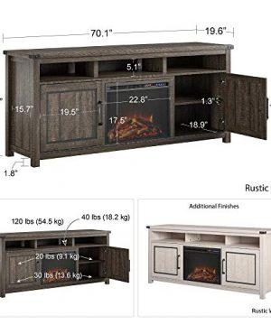Ameriwood Home Cedar Ridge Fireplace 70 Rustic White TV Stand 0 2 300x360