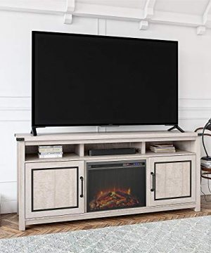 Ameriwood Home Cedar Ridge Fireplace 70 Rustic White TV Stand 0 300x360