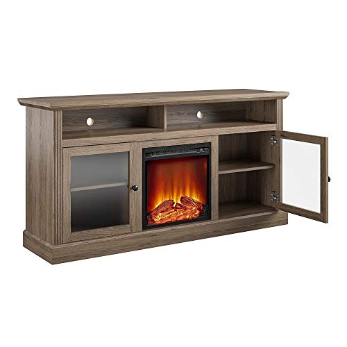 Ameriwood Home Chicago Fireplace 65 Rustic Oak TV Stand 0 2
