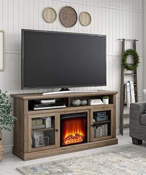 Ameriwood Home Chicago Fireplace 65 Rustic Oak TV Stand 0 300x360