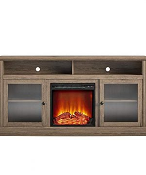 Ameriwood Home Chicago Fireplace 65 Rustic Oak TV Stand 0 4 300x360
