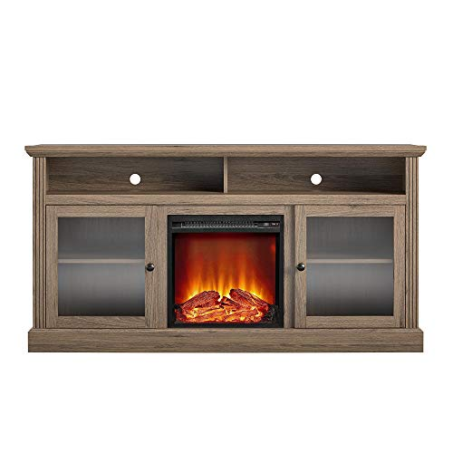 Ameriwood Home Chicago Fireplace 65 Rustic Oak TV Stand 0 4