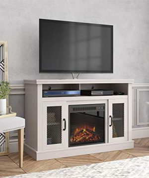 Ameriwood Home Cresthaven Fireplace 54 Ivory Pine TV Stand 0 300x360
