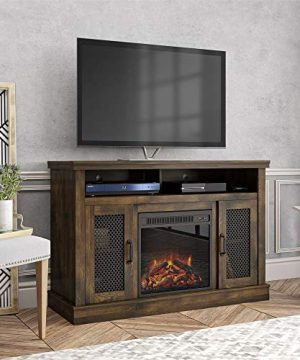 Ameriwood Home Cresthaven Fireplace 54 Rustic TV Stand 0 300x360