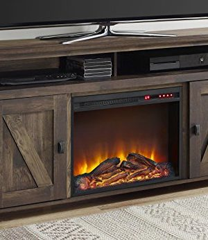 Ameriwood Home Farmington Electric Fireplace TV Console For TVs Up To 60 Rustic 0 300x346