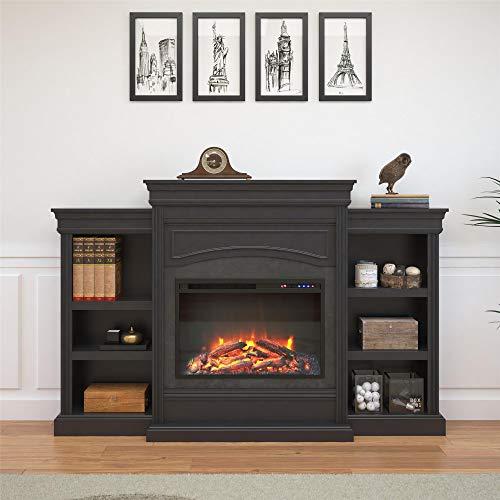 Ameriwood Home Lamont Mantel Fireplace Black 0 0