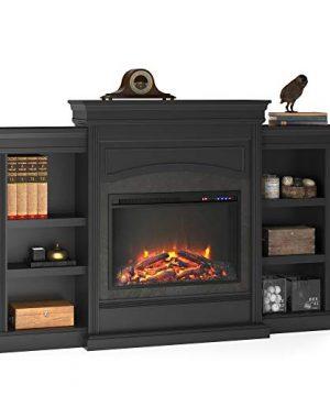 Ameriwood Home Lamont Mantel Fireplace Black 0 300x360