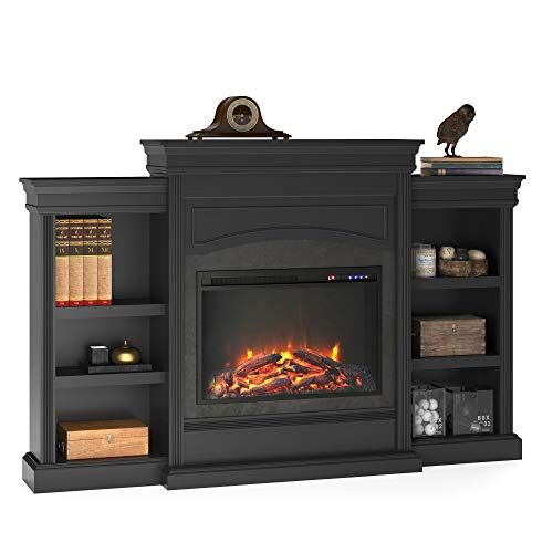 Ameriwood Home Lamont Mantel Fireplace Black 0
