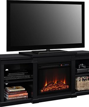 Ameriwood Home Manchester Electric Fireplace TV Stand For TVs Up To 70 Black 0 0 300x360