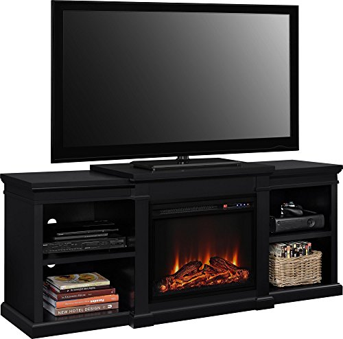 Ameriwood Home Manchester Electric Fireplace TV Stand For TVs Up To 70 Black 0 0