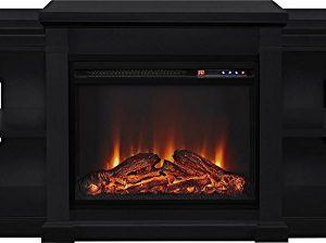 Ameriwood Home Manchester Electric Fireplace TV Stand For TVs Up To 70 Black 0 1 300x224