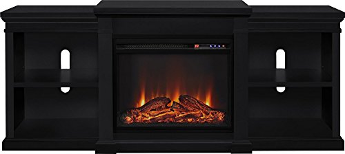Ameriwood Home Manchester Electric Fireplace TV Stand For TVs Up To 70 Black 0 1
