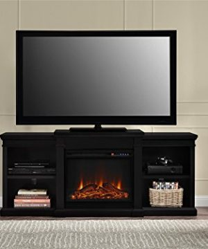 Ameriwood Home Manchester Electric Fireplace TV Stand For TVs Up To 70 Black 0 2 300x360