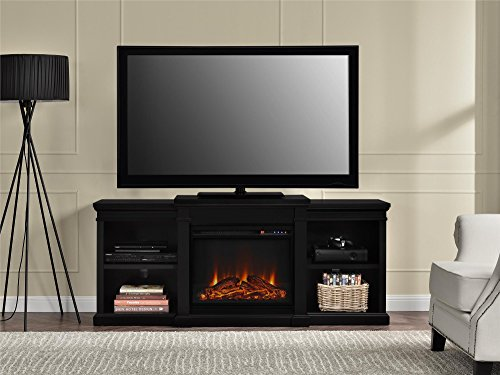 Ameriwood Home Manchester Electric Fireplace TV Stand For TVs Up To 70 Black 0 2