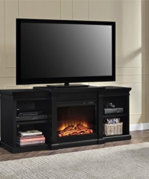 Ameriwood Home Manchester Electric Fireplace TV Stand For TVs Up To 70 Black 0 3 300x360