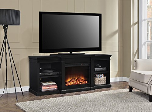 Ameriwood Home Manchester Electric Fireplace TV Stand For TVs Up To 70 Black 0 3